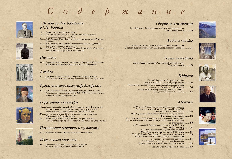 Содержание журнала Культура и время №3 за 2012 г.