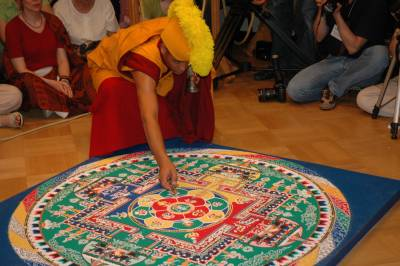 Ceremony of destruction of the mandala