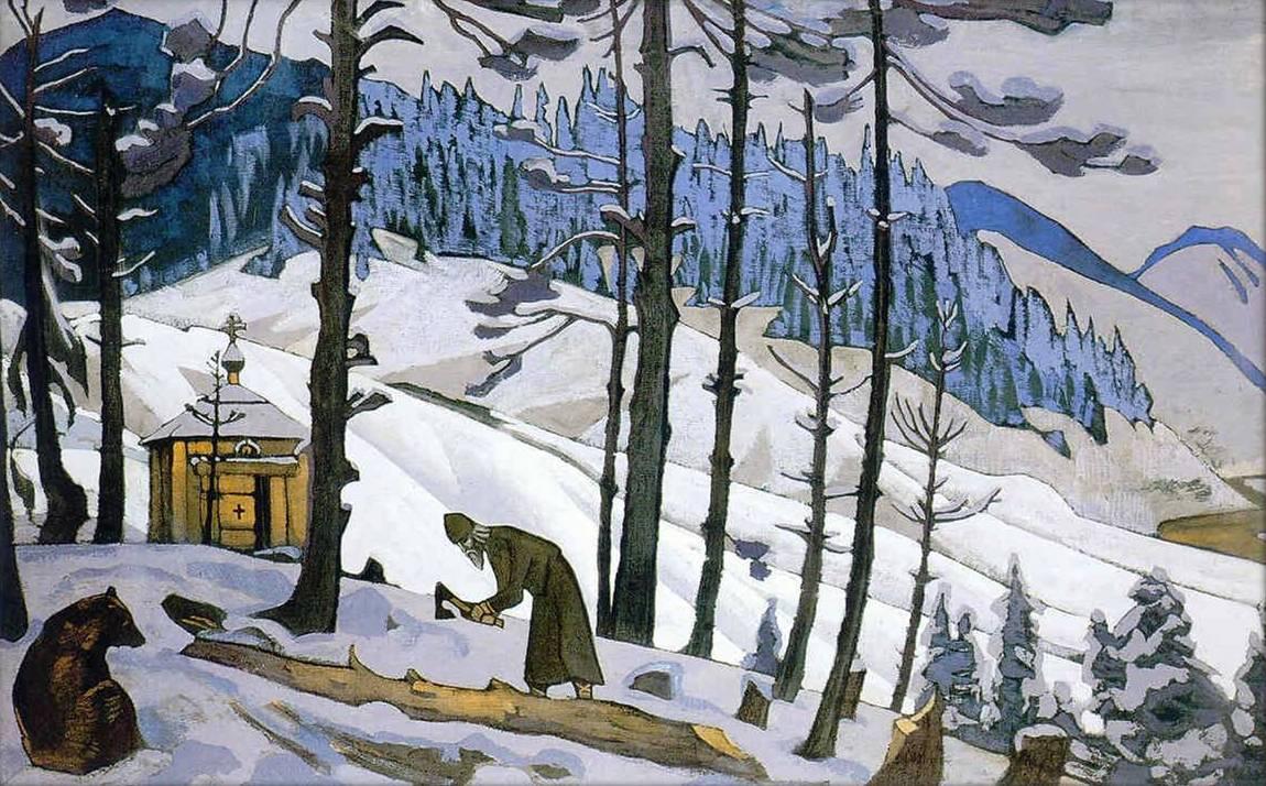 Н.К. Рерих. Сергий Строитель. 1925