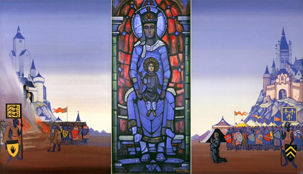 Н.К. Рерих. Жанна дАрк. Триптих. 1931