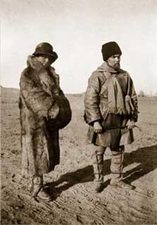 Е.И. и Ю.Н.Рерихи во время Центрально-Азиатской экспедиции