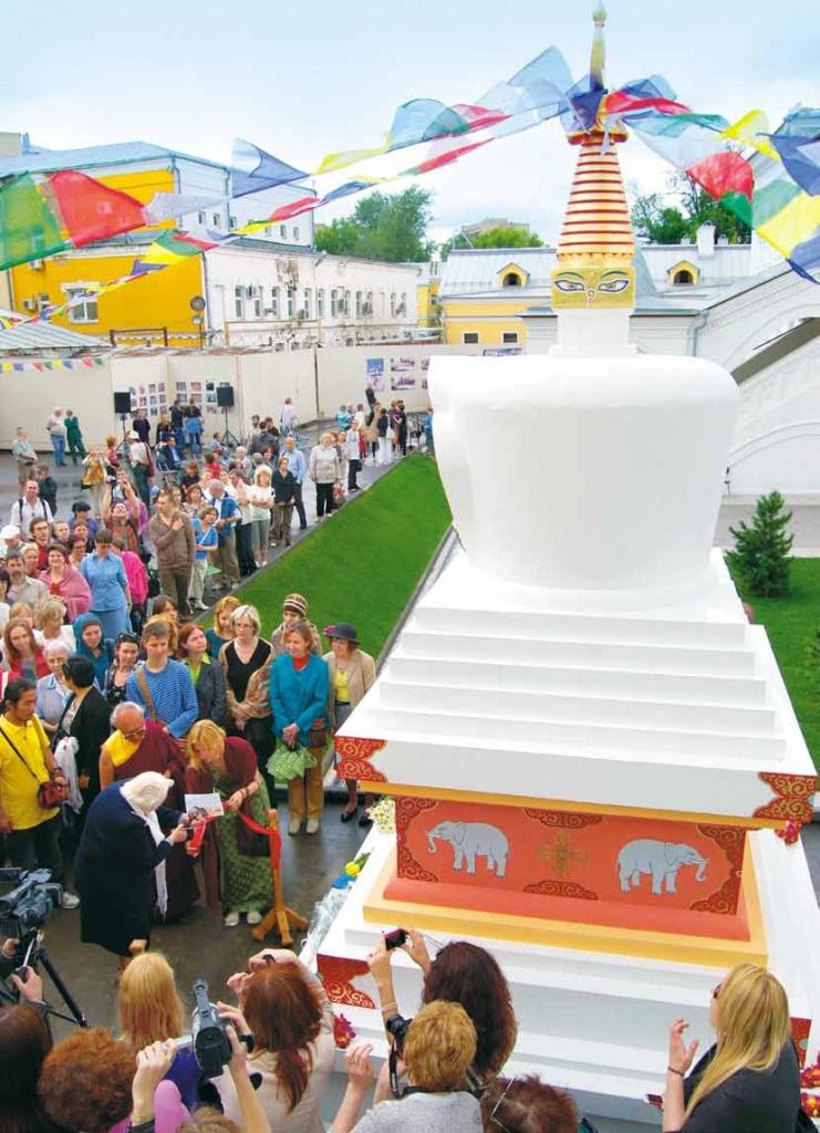 Буддийская ступа на территории МЦР