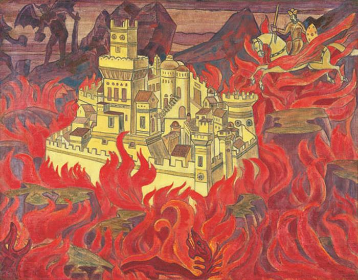 Н.К. Рерих. Пречистый Град – врагам озлобление. 1912