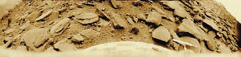 Фото 10. Панорама, переданная 22 октября 1975 года аппаратом «Венера-9» с поверхности  планеты, обработанная заново