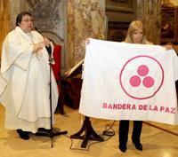 Знамя Мира в Кафедральном Соборе Буэнос-Айреса