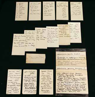 Карточки Ю.Н. Рериха и неолитическая коллекция Рерихов из собрания ММТР