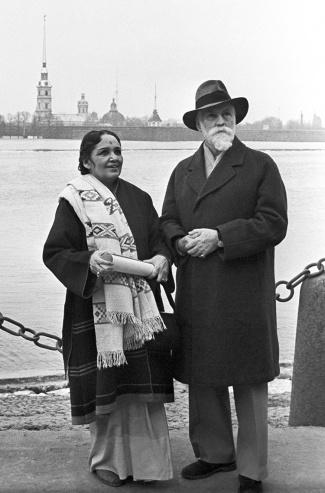 Святослав Рерих и его супруга, индийская актриса Девика Рани
