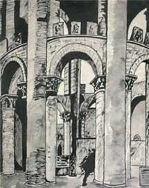 Ю.Н.Рерих. В замке. 1917-1918