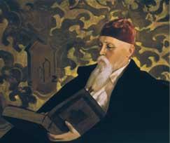 С.Н.Рерих. Портрет Н.К.Рериха. 1934