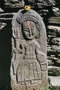 Богиня из храма Трипурасундарам. Фотография Л.В.  Шапошниковой